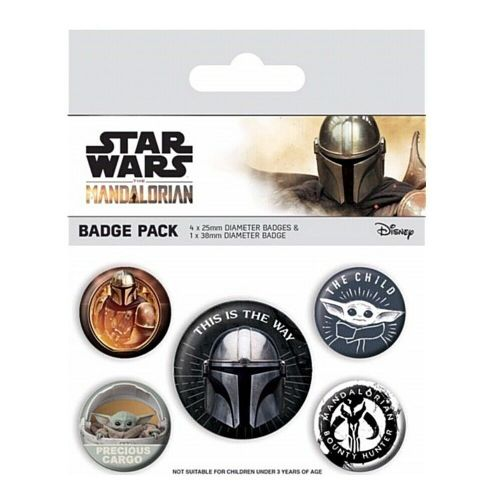 Star Wars The Mandalorian Button Badge Pack